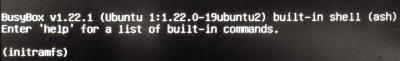 Ошибка {initramfs} при загрузке Ubuntu. Инструкция по восстановлению запуска.